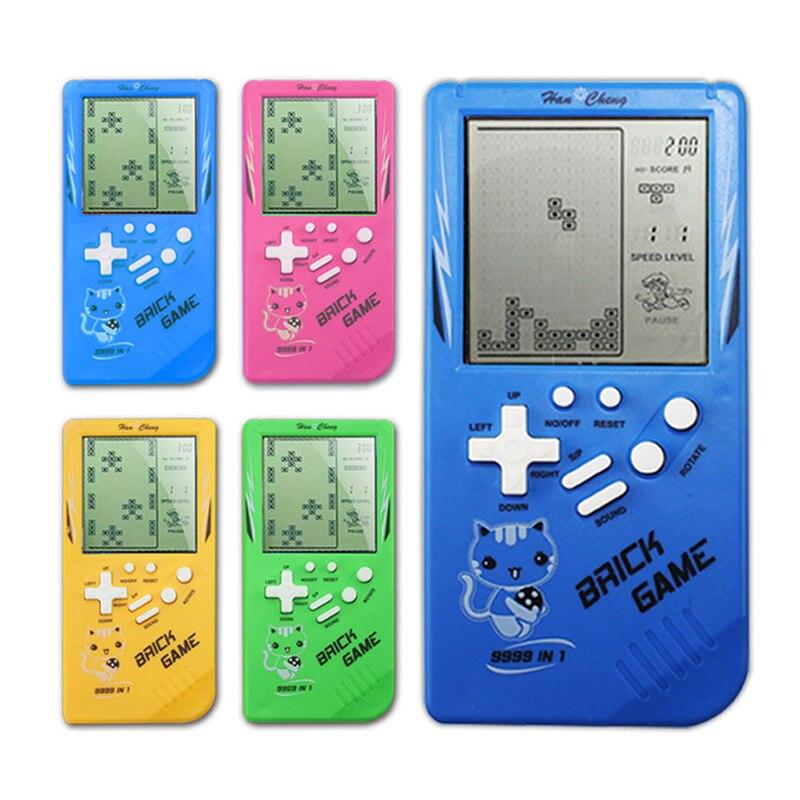 Портативная игровая консоль Tetris, портативные игровые плееры с ЖК-экраном, электронные игровые игрушки, Карманная игровая консоль