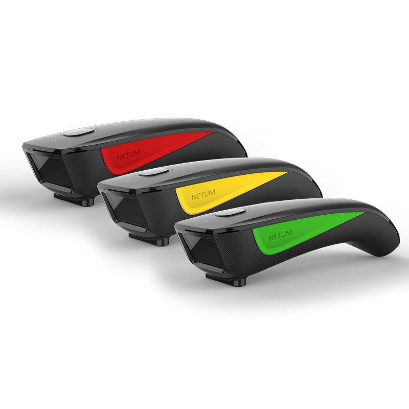 NETUM اللاسلكية C750 جيب ماسح الرمز الشريطي بتقنية Bluetooth 2D QR الباركود قارئ 3 في 1 اتصال PDF417 للجوال الدفع صناعة