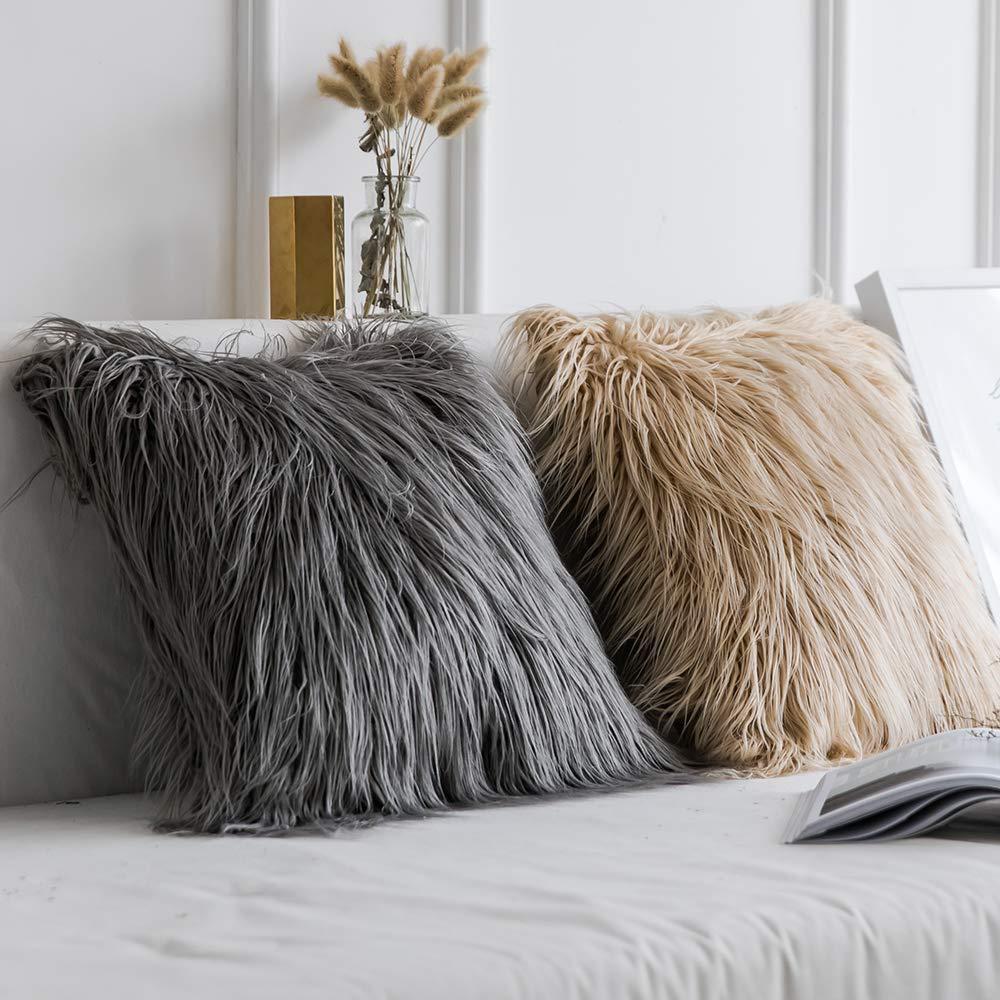 Ins funda de almohada 45x45, funda de cojín peluda de felpa, funda de almohada, funda de almohada para hogar, cama, habitación, sofá de hogar, Fundas protectoras para almohadas