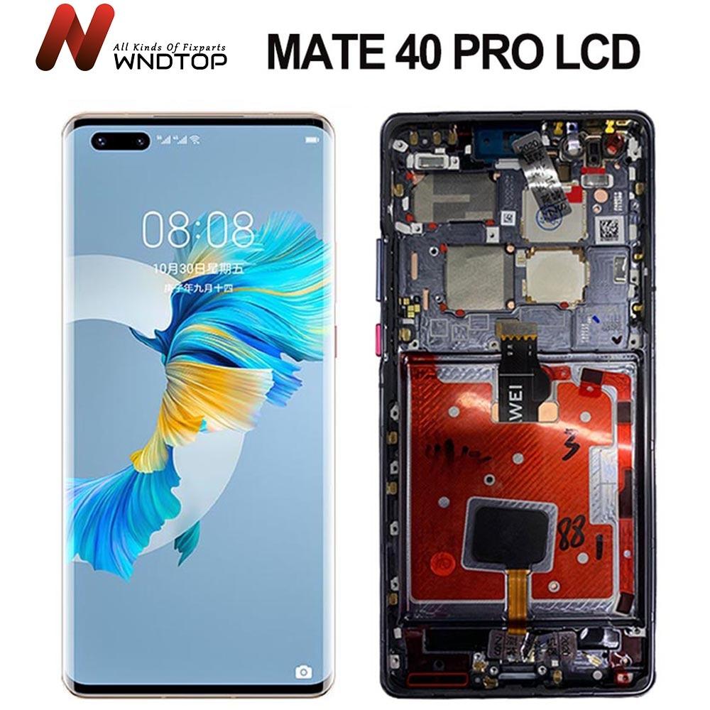 100% تم اختبارها لهاتف هواوي ميت 40 برو شاشة LCD مع شاشة تعمل باللمس محول الأرقام الجمعية استبدال ماتي 40 برو عرض Mate40Pro LCD
