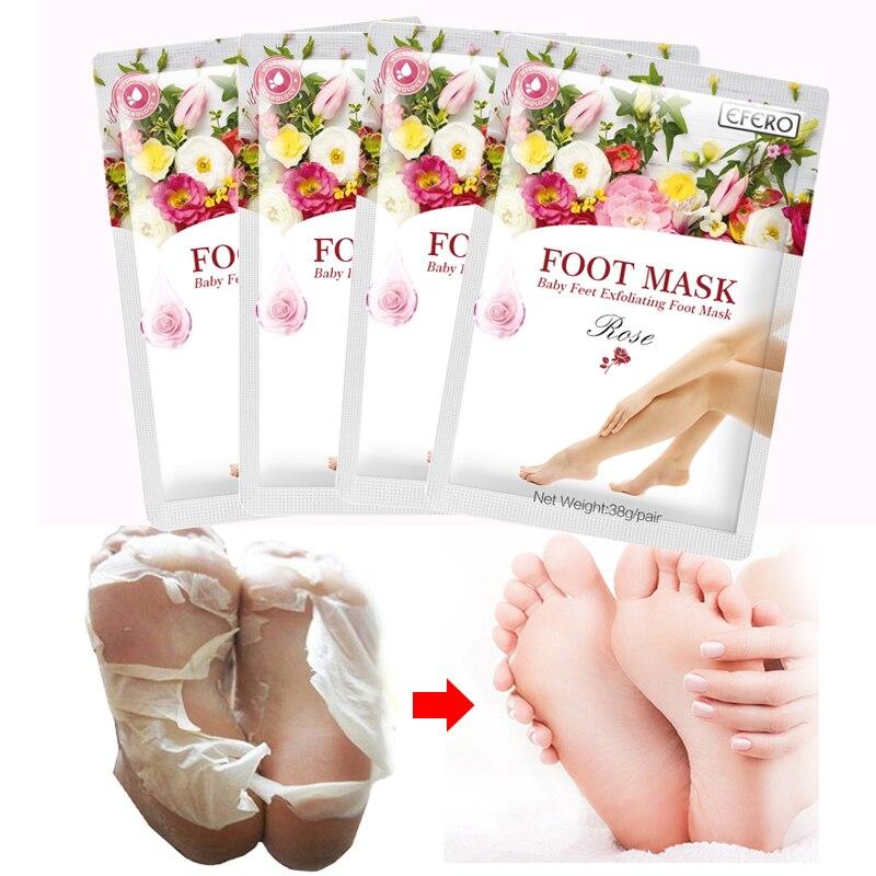 Купить с кэшбэком 2 pairs Exfoliating Foot Mask Feet Mask Peel Socks For Pedicure Remove Dead Skin Foot Peeling Mask Moisture Feet Care