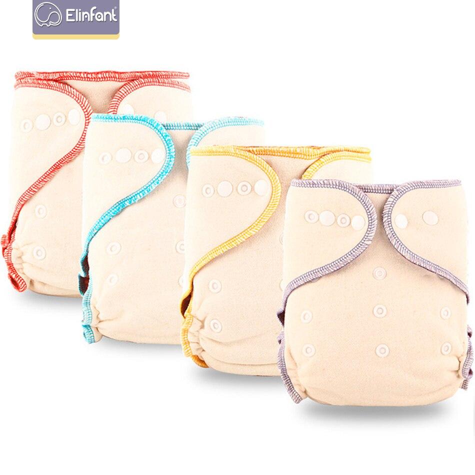 Elinfantil café polar velo reutilizável equipado fralda um tamanho noite aio & ai2 bebê fralda lavável pano de cânhamo 1 pcs pacote