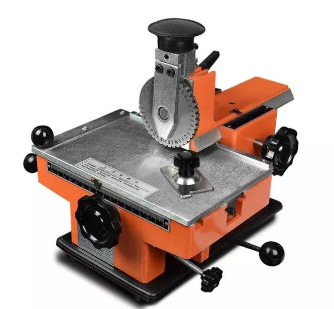 YL-360 شبه التلقائي آلة وسم الهوائية آلة نقش لوحة مع تركيبات + 2/2.5/3/ 4 مللي متر الطابع عجلة ، 2-4 كلمة