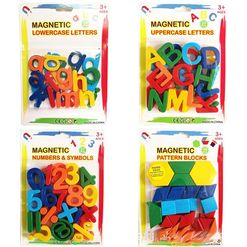 26pcs Magnetic Learning Alphabet Letters Plastic Refrigerator Stickers Toddlers Kids Learning Spelli