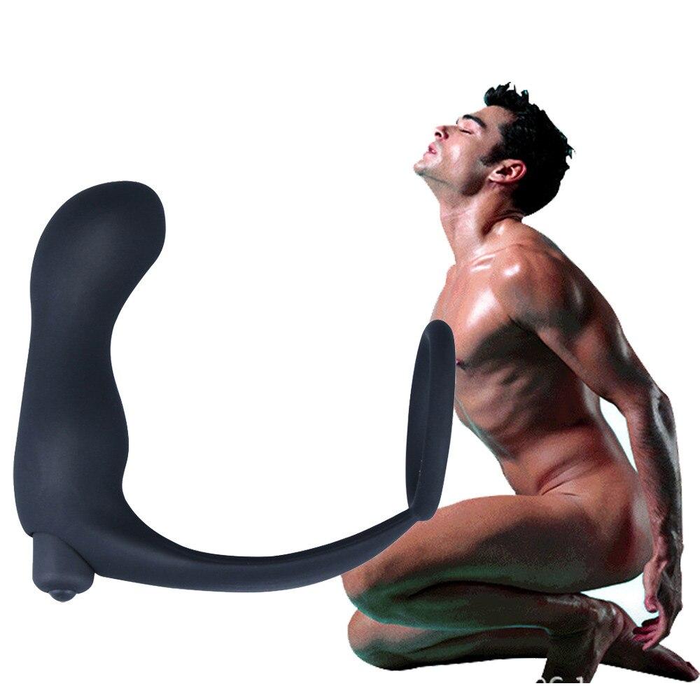 G точка стимуляция массажер простаты Анальный вибратор секс-игрушки для мужчин Открытие для ануса, Анальная пробка, Анальный расширитель, мужское кольцо с задержкой времени Sexo
