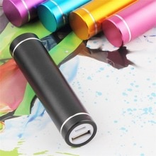 Portable Fashion Multicolor Hard Universal USB 5V 1A Mobile Power Bank Charger Pack 18650 Battery Ca