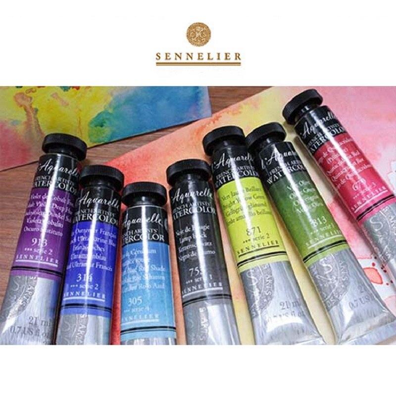 SENNELIER-pintura de acuarela de miel de 98 colores, acuarelas de un solo...