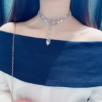 sexy full diamond clavicle chain womens japanese and korean net red short necklaces neck accessories choker collar women