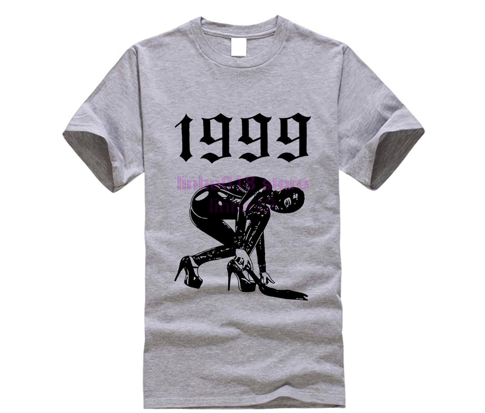 Lordrock homens 1999 t camisa manga curta do vintage lendas nascem em 1999 camiseta carta impresso camisa plus size xxxl tshirt
