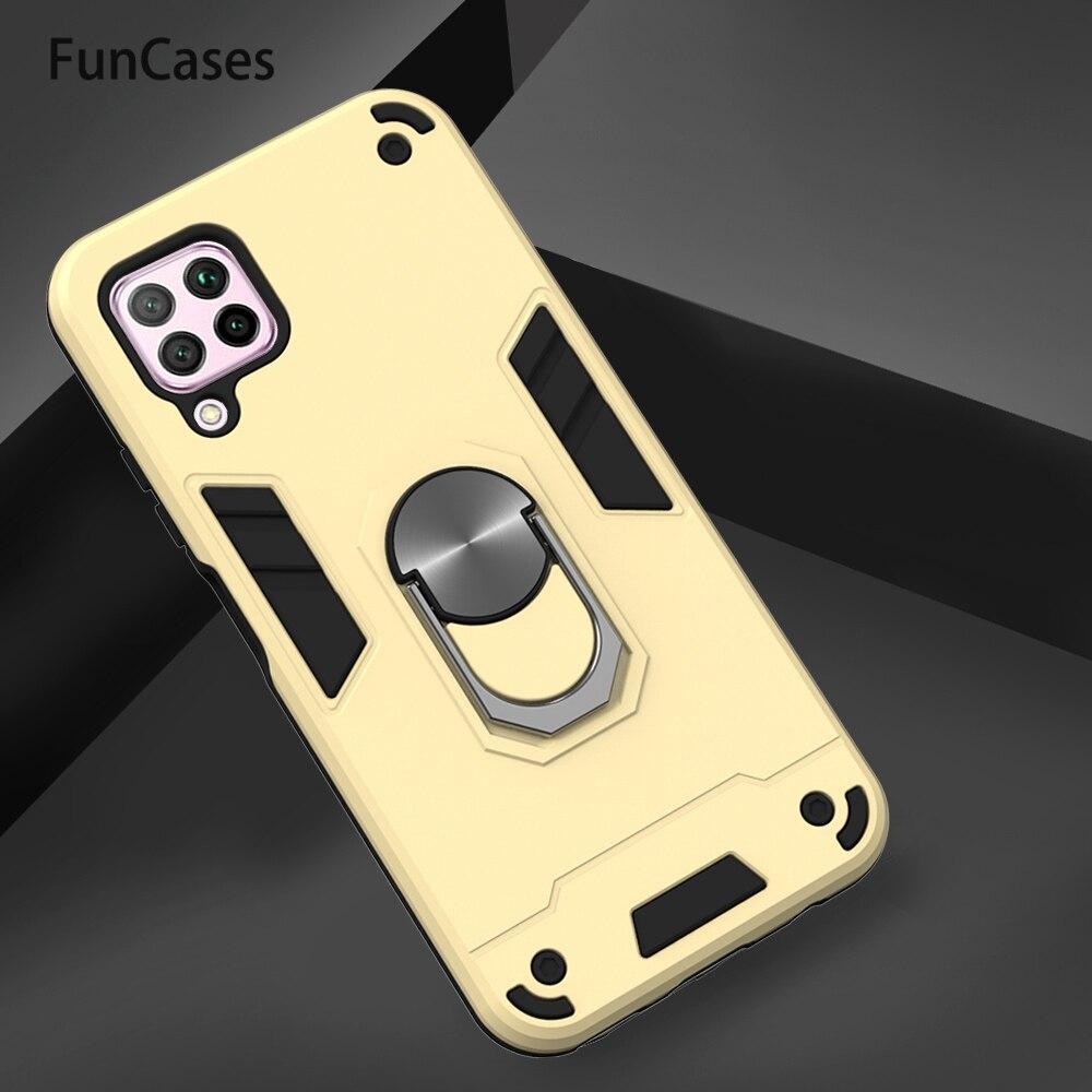 Armadura a prueba de golpes de plástico para Huawei P40 Lite Aksesuar Huawei Nova 6 SE Maimang 7 7i amigo 20 Lite P Smart Z Protector de la PC