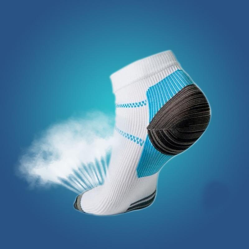 Set para 2 calcetines de compresión del pie para Plantar Fasciitis talón Spurs FM0356 calcetín Pain Sport D1M6