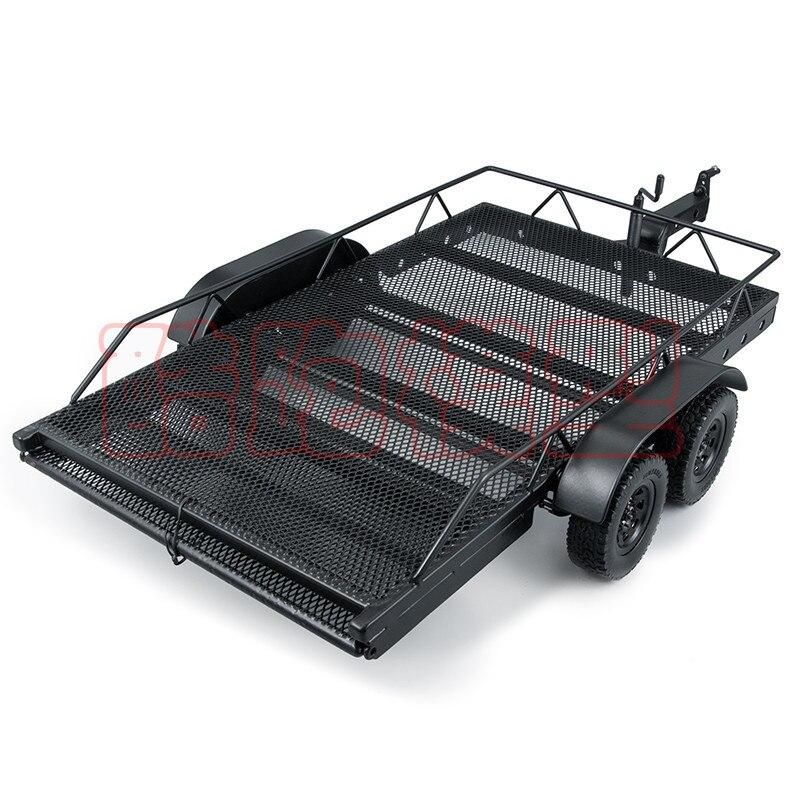 Remolque metálico de alta calidad para camión Rc Rock Crawler 1/10 Traxxa Trx4 Axial Scx10 90046 90047 Cc01 D90 D110 TRX-4