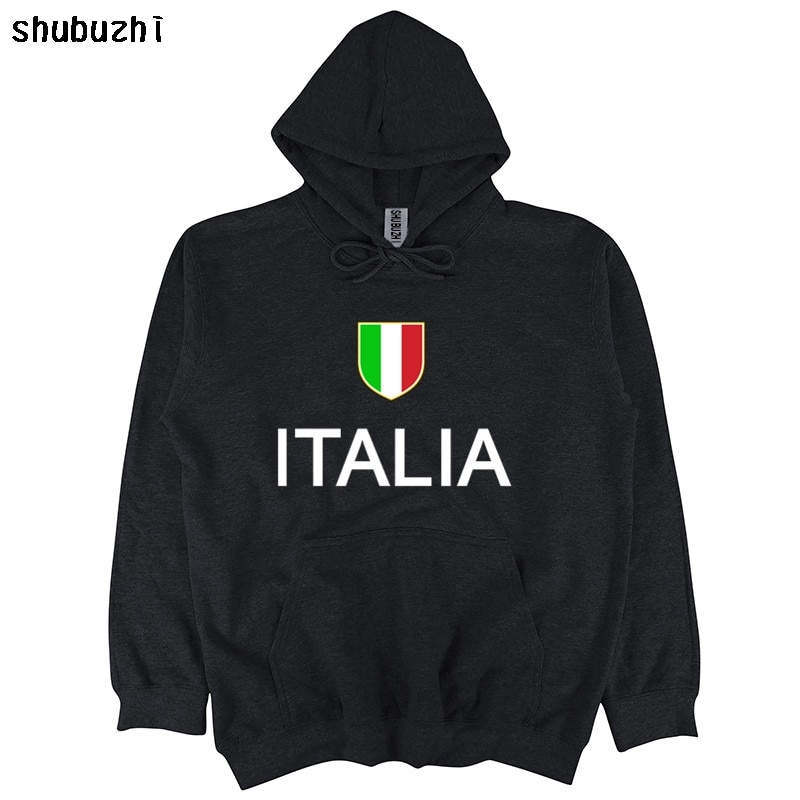 Marca de algodón, ropa para hombre, sudadera entallada para hombre, Italia, fútbol italiano, Sudadera con capucha, talla europea, sudadera para hombre sbz4065