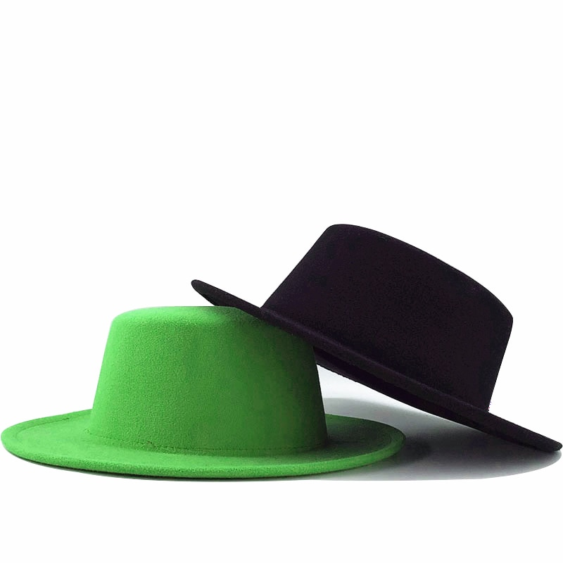 Winter Autumn Imitation Woolen Women Men Ladies Fedoras Top Jazz Hat European American Round Caps Bo