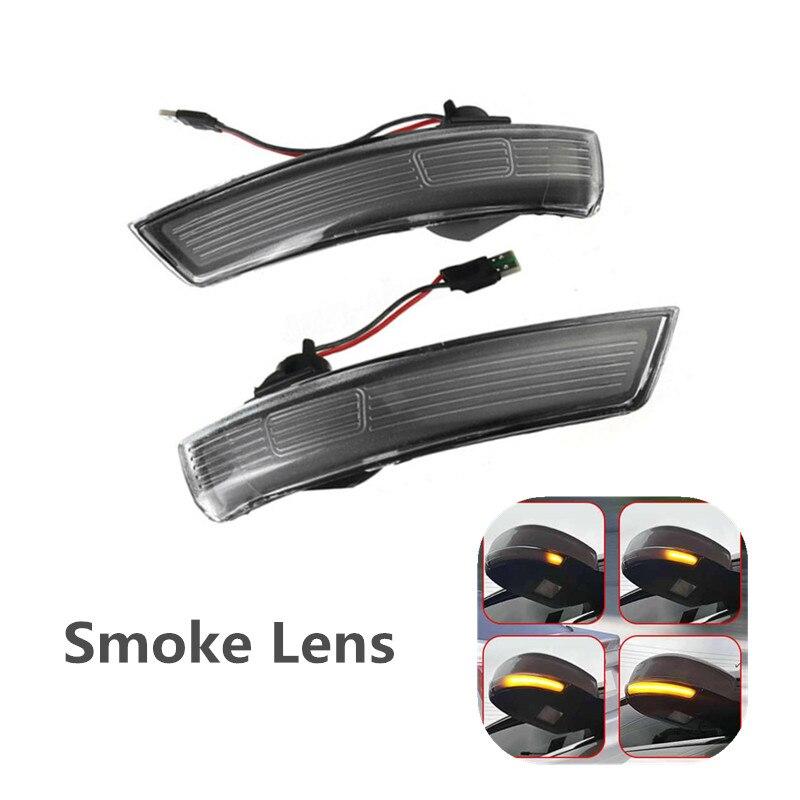 Luz LED de señal de giro dinámica con lente de humo, luz intermitente con indicador Retrovisor lateral para Ford Focus 2 3 MK2 MK3 Mondeo Mk4