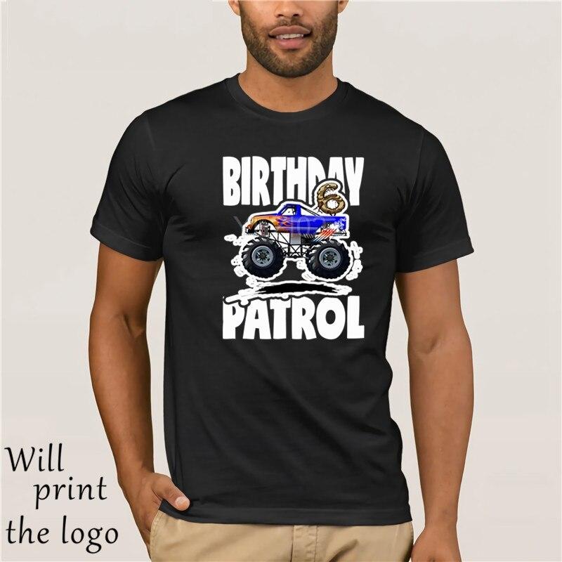 Camiseta de patrulla de cumpleaños del 6 ° y camión del monstruo grande