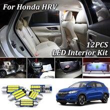 12 Pièces Canbus a mené la lumière intérieure Kit Pour 2014 2015 2016 2017 2018 2019 2020 Honda HRV HR-V intérieur led éclairage de plaque Dimmatriculation
