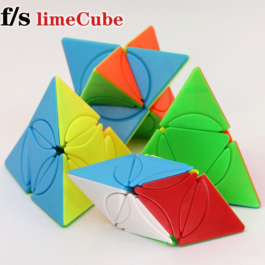 Cubo mágico rompecabezas fs limCube 2x2x2 círculo serie círculo pirámide plus Dino Star Plus LiuSeLingJing II cubo piramidal juego cubos