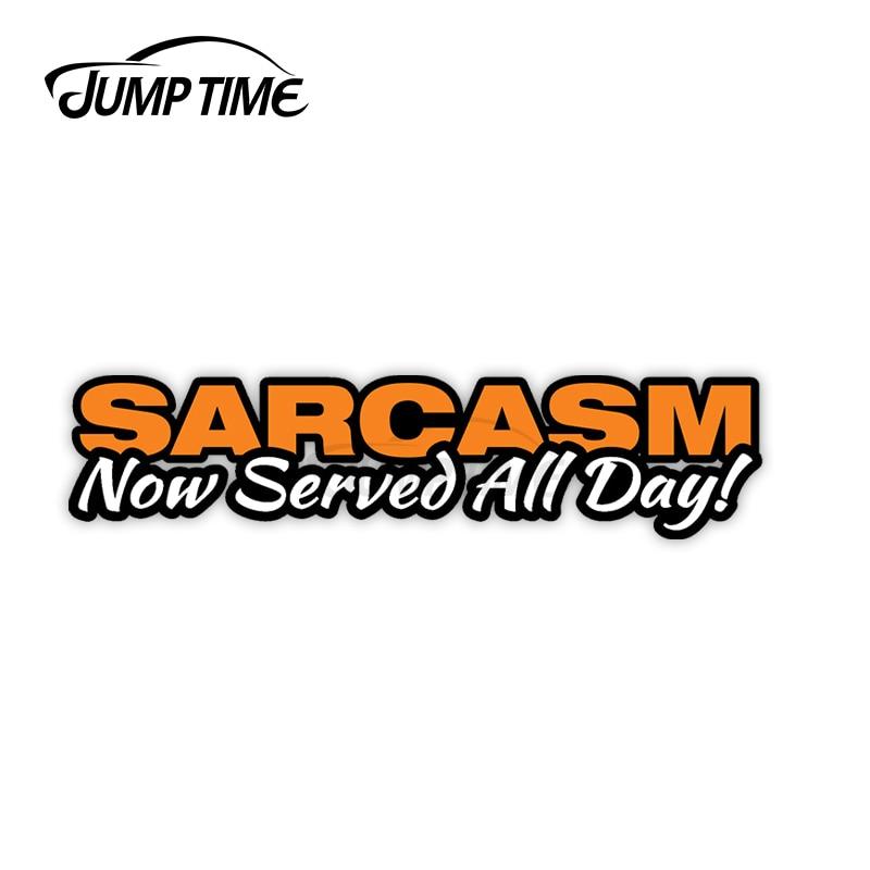 Pegatina de sarcasmo de 13cm x 3cm para coche, calcomanías de todo...