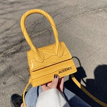 Jacquemus Mini Small Square Bags for Women Hand Designer Luxury Brand PU Leather Shoulder Bag Work O