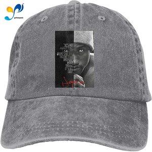 Hopsin Retro Sports Denim Cap Adjustable Snapback Casquettes Unisex Plain Baseball Cowboy Hat Black
