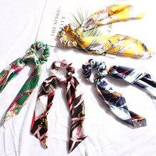 Hair Bands Bow Streamers Hair Scrunchies Ribbon Ties for Women Girls Hair Band Rope Ponytail Holder Nylon Headbands Scrunchie