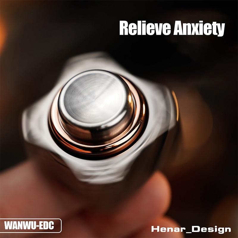 WANWU-EDC Button Fidget Spinner Gyro Wasteland Technology CNC Seiko Carving Decompression Toy enlarge