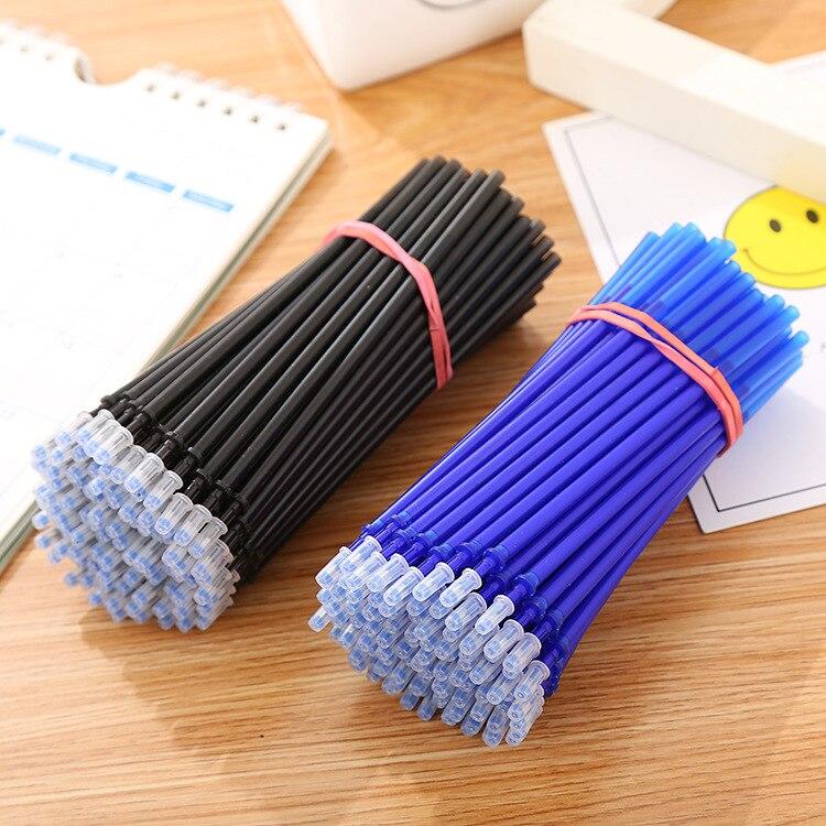 20 шт./лот, стираемые гелевые ручки, 0,5 мм, синие и черные чернильные заправки, офисные, школьные канцелярские принадлежности для письма