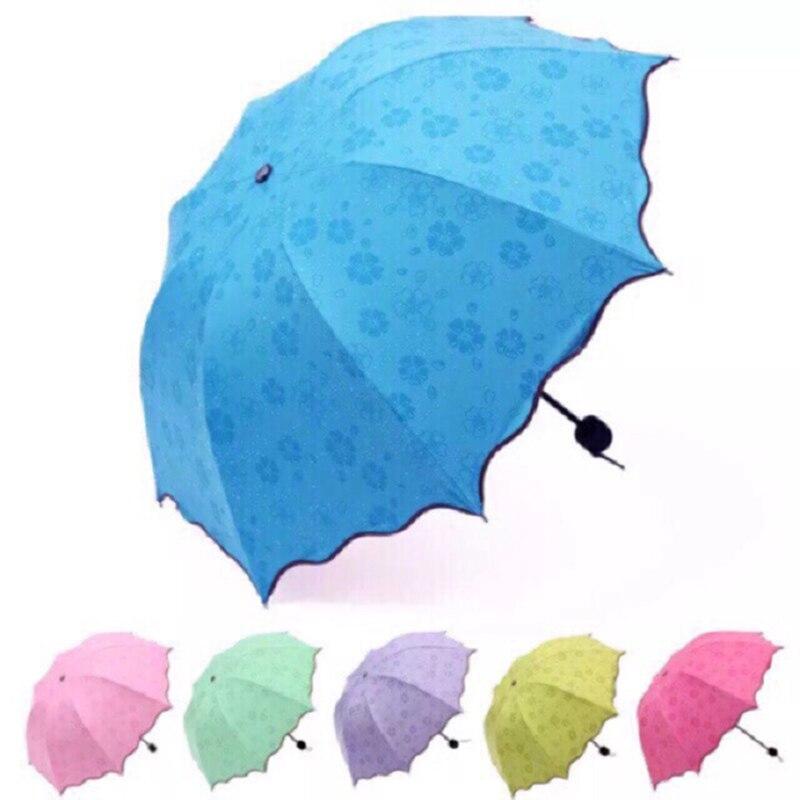 Портативный мини-зонтик для воды, цветущий Солнечный зонтик для женщин, защита от УФ-лучей, однотонный зонтик от солнца, ветрозащитный дорож...