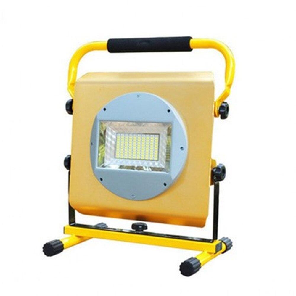 Linterna de mano LED de 100W, linterna LED de 4 modos para obra, luz LED móvil recargable, 6 uds, baterías de litio, cargadores de CA
