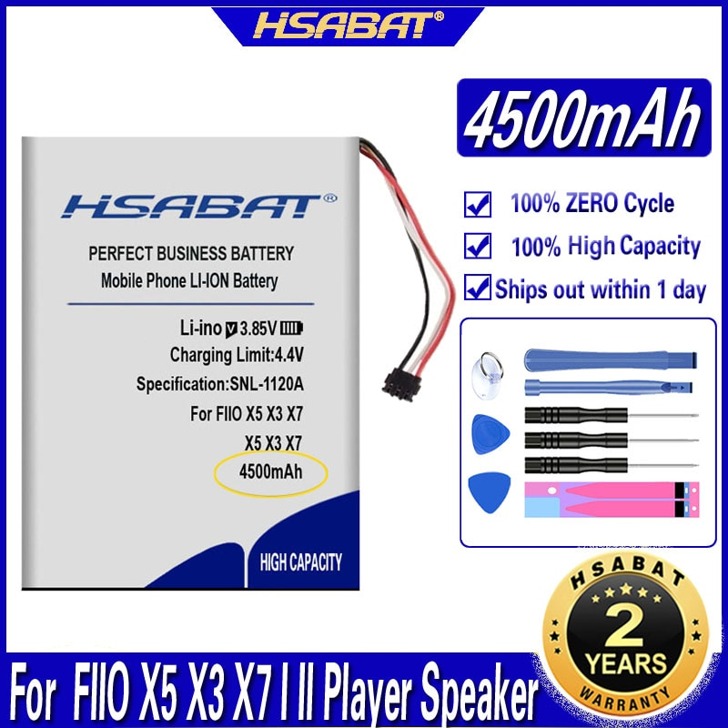 Аккумулятор HSABAT 4500 мАч для динамиков FIIO X5 X3 X7 I II