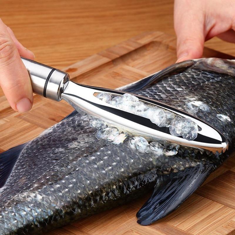 Ralador de escala de peixes multiuso rápido remover peixe descascador de limpeza escalas de peixe escova de limpeza descascador raspador para frutos do mar