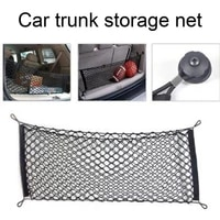 car auto rear trunk double layer mesh net storage bag luggage pocket organizer automobiles stowing tidying