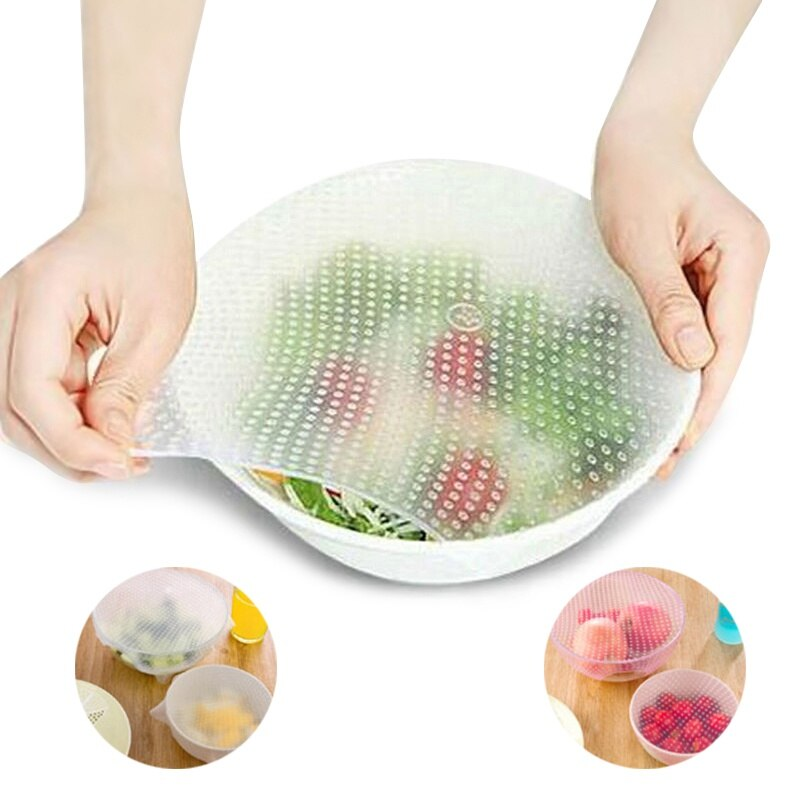Película de alimentos multifuncional sello elástico vacío de silicona envolturas de alimentos cubierta de sello comida mágica estiramiento fresco suministros para utensilios de cocina