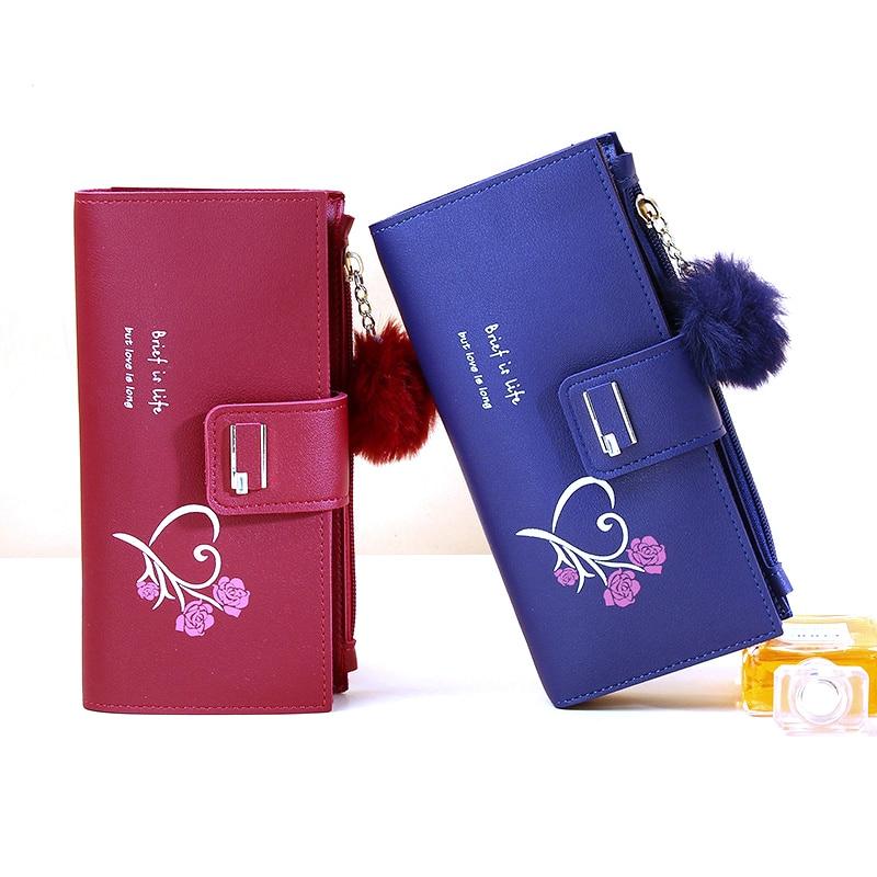 2021 Women's Wallets Long New Fashion Classic Female Purse Zipper PU Brand Wallet For Woman Clutch B