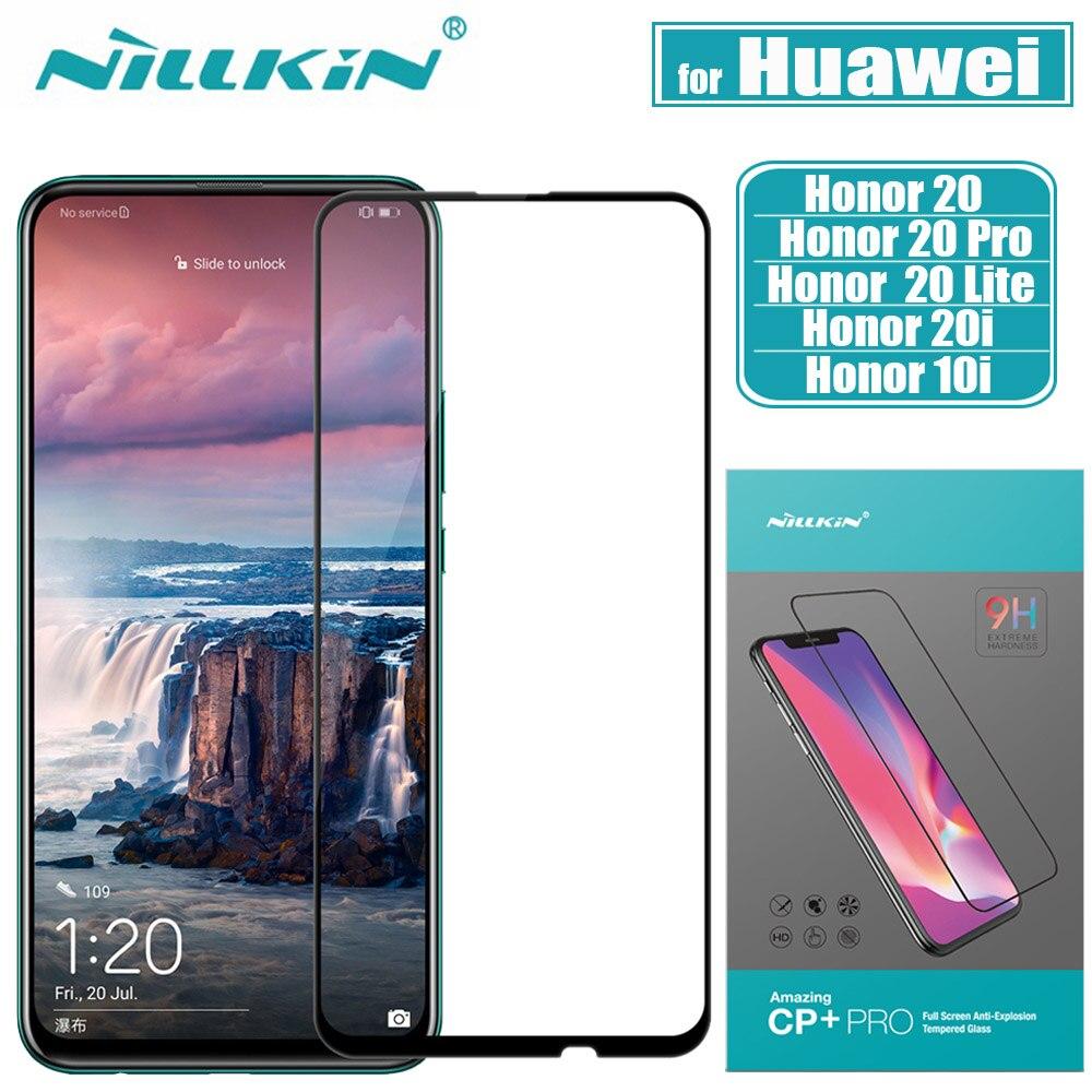 Protector de pantalla de vidrio para Huawei Honor 20 Pro Nillkin 2.5D cubierta completa de pegamento vidrio templado de seguridad para Huawei Honor 10i 20i 20 10 Lite