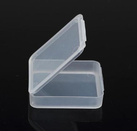 50pcs inside 5*5*0.8cm Transparent storage box plastic box white tool box screw box hardware parts box thickened with cover