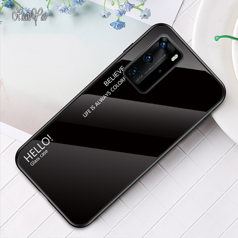 Funda XUANYAO para Huawei P40 Pro Plus, funda P40 Pro + funda de Marco suave para Huawei P40 Lite E, funda trasera dura de vidrio templado