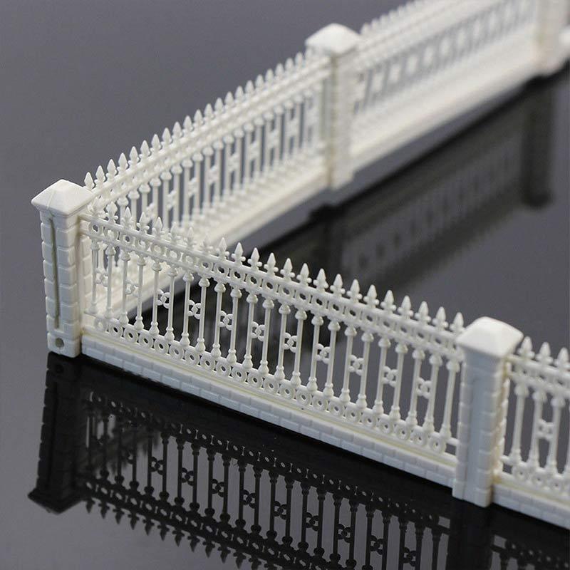 Maqueta de valla de pared de jardín con barandilla de setos para mesas de arena modelo de tren y accesorios de construcción modelo ds99