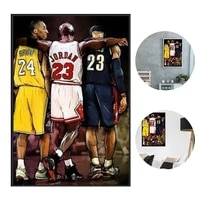 basketball star poster home decor paintings durable sports posters champion poster decorative painting