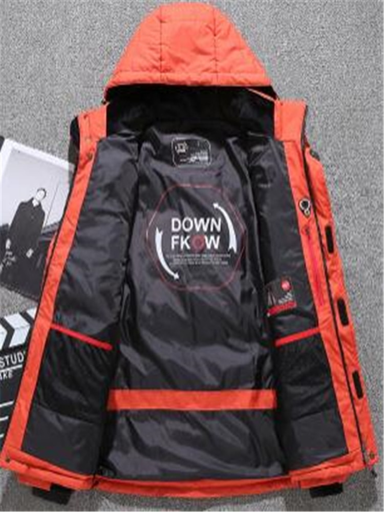 Mens winter new down jacket Fashion outdoor mens Thick casual duck clothes Outdoor leisure sports
