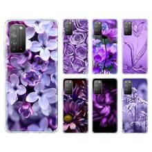 Simple Lavande Fleurs Violettes pour Huawei Honneur 9A 9S 9C 8X 9X 20i 20 10 Lite Y9 Y7 Y6 2019 Y9s Y8s Sac Couverture de Téléphone Caso