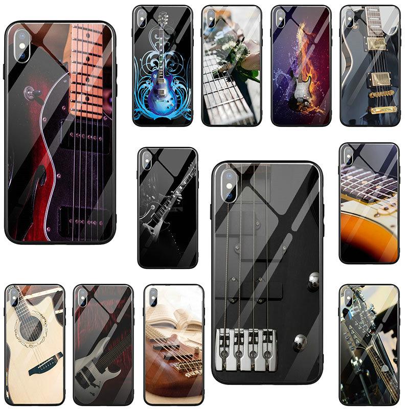 Струны для бас-гитары шеи из закаленного стекла Аксессуары для мобильных телефонов чехлы для iPhone 8 7 6 6S Plus X XR XS 11 Pro Max