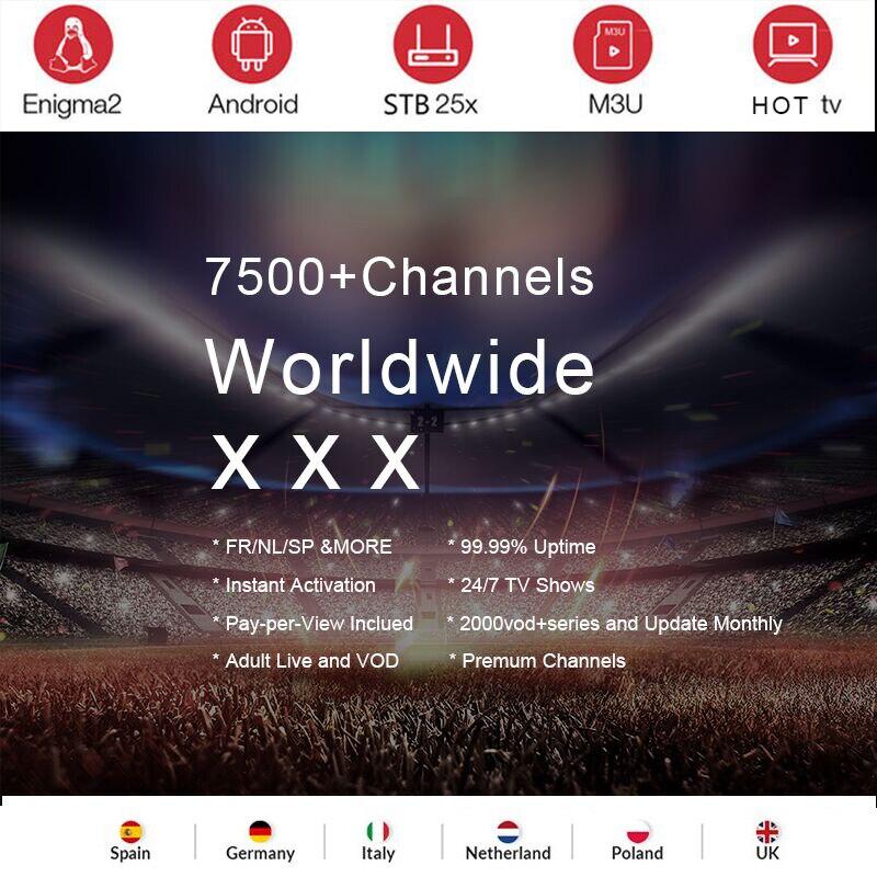 Italy IPTV Subscription 7000+Live Super Germany Italian Albania Turkey adult for M3U Android Enigma2