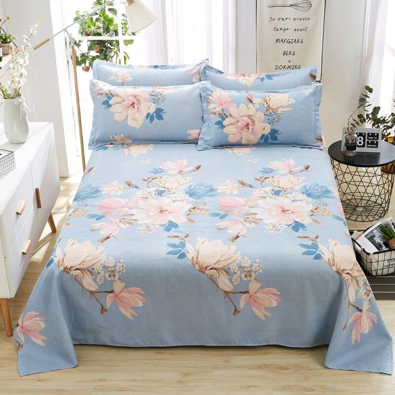 Funda de almohada de cama plana Floral para niños colcha adultos + 2 fundas de almohada gratis