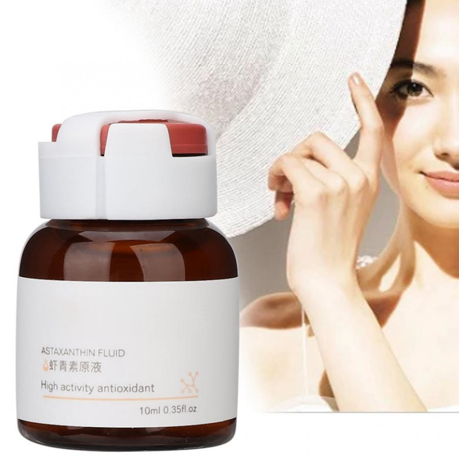 Astaxanthin Serum Antioxidant Brightening Fade Spots Whitening Skin Anti UV Solution Liquid Face Serum 10ml