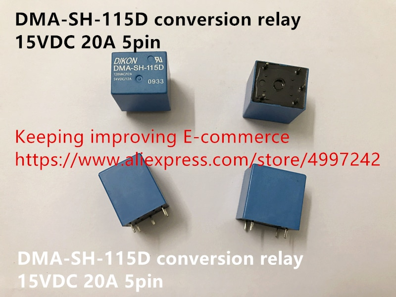 Original novo 100% conversão relé DMA-SH-115D 15VDC 20A 5pin
