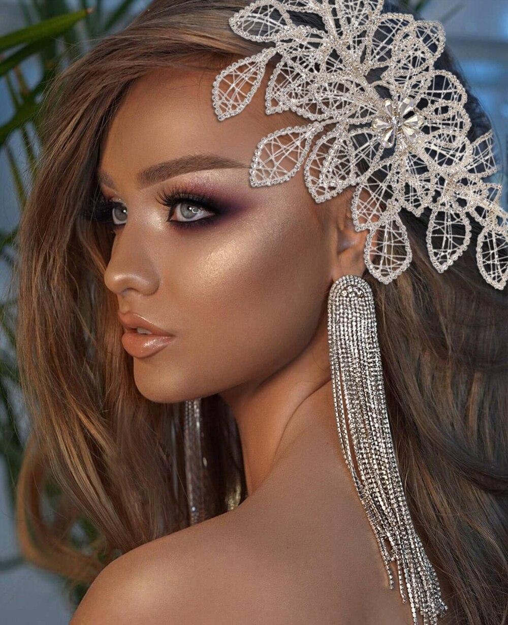 ZMHP256 الذهبي يترك الشعر مجوهرات الزفاف في الشعر الكرمة الزفاف أغطية الرأس تيجان وإكسسوارات للشعر النساء اكسسوارات الديكور إكليل