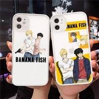 japan anime banana fish anime art phone case matte transparent for iphone 7 8 11 12 s mini pro x xs xr max plus cover funda