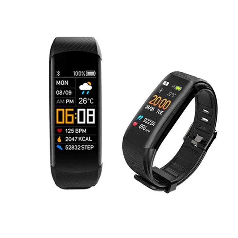 Rastreador de Fitness Monitor de Pressão Arterial do Corpo Real-tempo de Previsão do Tempo Lote Inteligente Pulseira Smartband Oled Tela Heart Rate 5 Pçs –